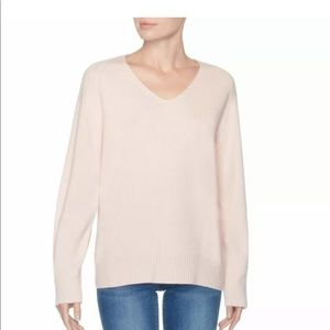 Magaschoni Cashmere Sweater Relaxed Cozy V Neck